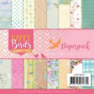 "Jeanines Art 6""x6"" Paper Pad - Happy Birds (23 sheets)"
