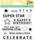 Jillibean Soup Clear Stamps - Rock Star