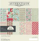 "Authentique 6""x6"" Cardstock Pad - Jingle (24 sheets)"