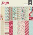 "Authentique - 12""x12"" Jingle double-sided Paper Pad (24 sheets)"