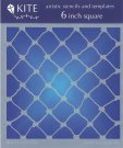 "Judikins 6"" Square Kite Stencil - Fish Net"