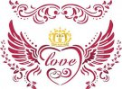 Stamperia 15x20cm Stencil - Love with Wings