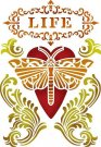 Stamperia 15x20cm Stencil - Life Heart with Dragonfly