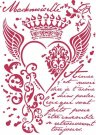 Stamperia A4 Stencil - Royal heart