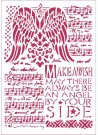 Stamperia A4 Stencil - Music & Wings