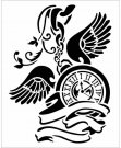 Stamperia 20x25cm Thick Stencil - Pendulum Clock with Wings