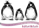 Katzelkraft Rubber Stamps - Grumpy Penguins