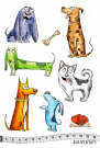 Katzelkraft Rubber Stamps - The Dogs