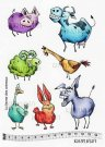 Katzelkraft Rubber Stamps - The Animal Farm