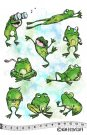 Katzelkraft Rubber Stamps - The Frogs