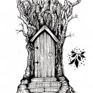 Lavinia Stamps Clear Stamps - Fairy Door Large