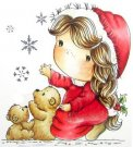 Little Darlings Candibean Cling Rubber Stamp - Let It Snow