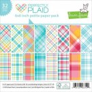 "Lawn Fawn 6""x6"" Petite Paper Pack - Perfectly Plaid (32 sheets)"