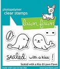 Lawn Fawn Clear Stamp Set - Sealed With A Kiss
