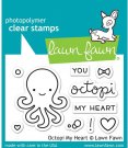 Lawn Fawn Clear Stamp Set - Octopi My Heart