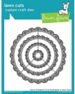 Lawn Cuts Custom Craft Dies - Fancy Scalloped Circle Stackables