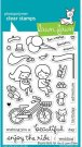 Lawn Fawn Clear Stamp Set - Bicycle Built For You