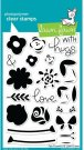Lawn Fawn Clear Stamp Set - Fab Flowers