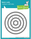 Lawn Cuts Custom Craft Dies - Zig Zag Circle Stackables