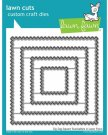 Lawn Cuts Custom Craft Dies - Zig Zag Square Stackables