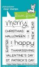 Lawn Fawn Clear Stamp Set - Happy Happy Happy
