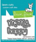 Lawn Cuts Custom Craft Dies - Happy Happy Happy