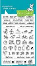 Lawn Fawn Clear Stamp Set - Plan On It Fitness