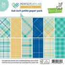 "Lawn Fawn 6""x6"" Petite Paper Pack - Perfectly Plaid Chill (36 sheets)"