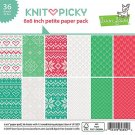 "Lawn Fawn 6""x6"" Petite Paper Pack - Knit Picky (36 sheets)"