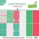 "Lawn Fawn 12""x12"" Double-Sided Collection Pack - Knit Picky (12 sheets)"
