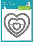 Lawn Cuts Custom Craft Dies - Lacy Heart Stackables