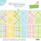 "Lawn Fawn 12""x12"" Petite Paper Pack - Perfectly Plaid Spring (12 sheets)"