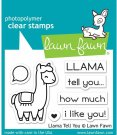 Lawn Fawn Clear Stamp Set - Llama Tell You
