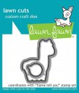 Lawn Cuts Custom Craft Dies - Llama Tell You