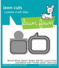 Lawn Cuts Custom Craft Dies - Reveal Wheel Speech Bubble