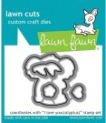 Lawn Cuts Custom Craft Dies - I Love You(calyptus)