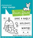 Lawn Fawn Winter Narwhal Clear Stamps