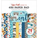 "Echo Park 6""x6"" Double-Sided Paper Pad - I Love My Cat (24 sheets)"