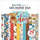 "Echo Park 6""x6"" Double-Sided Paper Pad - I Love My Dog (24 sheets)"
