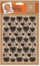 "Leonie Pujol 5""x7"" Embossing Folder - Dotty Heart"