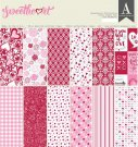 "Authentique 12""x12"" double-sided Cardstock Pad - Sweetheart (24 sheets)"