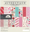 "Authentique 6""x6"" Paper Pad - Lovestruck (24 sheets)"
