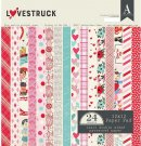 "Authentique 12""x12"" double-sided Cardstock Pad - Lovestruck (24 sheets)"