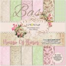 "Lemoncraft 12""x12"" Basic Paper Collection - House Of Roses #2 (12 papers)"