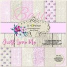 "Lemoncraft 12""x12"" Basic Paper Collection - Just Love Me (12 papers)"