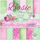 Lemoncraft 12x12 Basic Paper Collection - Everyday Spring (12 papers)