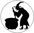 Martha Stewart Large Punch WITCH and CAULDRON
