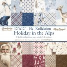 Maja Design 12x12 Papper Hel Kollektion - Holiday in the Alps (18 ark)