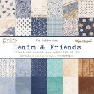 Maja Design Shades of Denim 12x12 Hel kollektion (24 st papper)