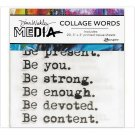 "Dina Wakley 3""x3"" Media Collage Word Pack - #1 (20 pack)"